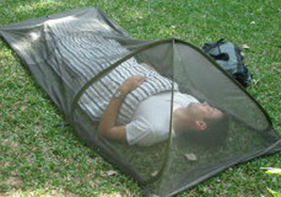 & Mosquito pop-up Dome Net treated with EPA approved Insect Shield®