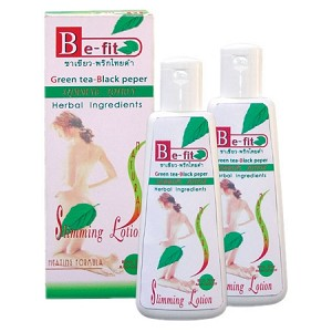 Be-Fit Herbal Green tea & Black papper slimming lotion, Thanyaporn herbs Thailand